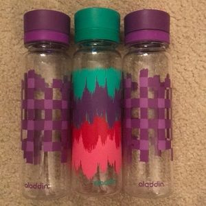 3 plastic water bottles (never used)